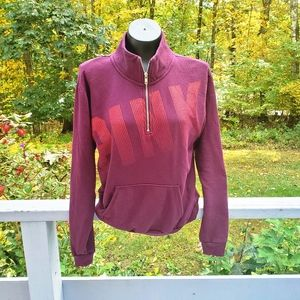 VS PINK Quarter Zip Pullover Sweatshirt Size Small